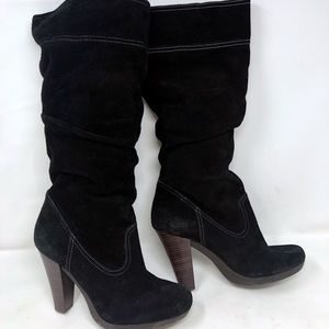 Michael Kors tall suede western boots